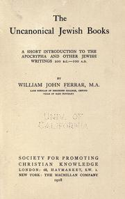 The uncanonical Jewish books by William John Ferrar
