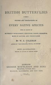 British butterflies by Coleman, W. S.
