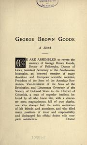 Cover of: George Brown Goode, a sketch by Alonzo Howard Clark