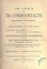 The church and the commonwealth by William Cochrane