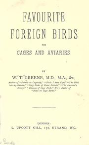 Favorite foreign birds for cages and aviaries.