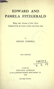 Cover of: Edward and Pamela Fitzgerald by Campbell, Gerald Fitzgerald
