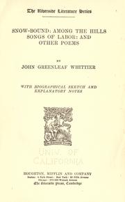 Snow-bound by John Greenleaf Whittier