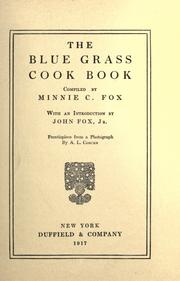 Cover of: The blue grass cook book. by Minnie C. Fox