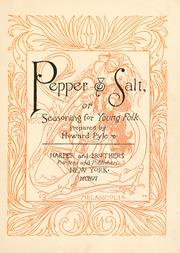 Pepper & Salt or Seasoning for Young Folk by Howard Pyle