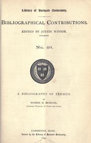 bibliography of Persius.