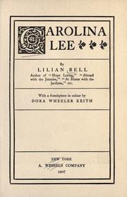 Cover of: Carolina Lee by Lilian Bell