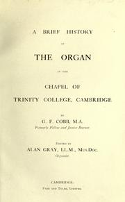 A brief history of the organ in the Chapel of Trinity College, Cambridge