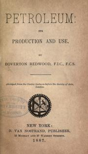 Petroleum by Redwood, Boverton Sir