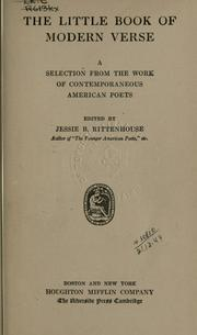 The little book of modern verse PDF