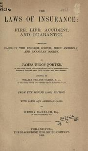 The laws of insurance by James Biggs Porter