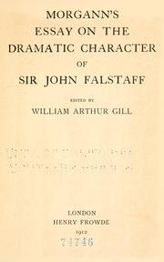 Essay on the dramatic character of Sir John Falstaff PDF