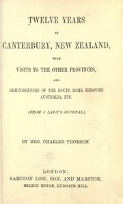 Twelve years in Canterbury, New Zealand PDF