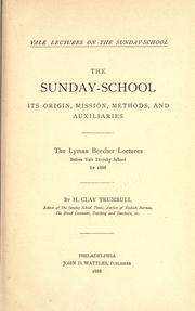 The Sunday-school by H. Clay Trumbull