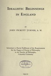 Idealistic beginnings in England PDF