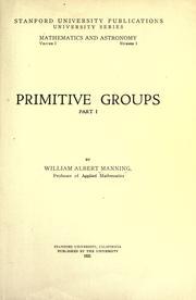 Primitive groups .. PDF