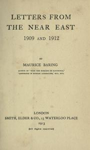Letters from the Near East 1909 and 1912 PDF