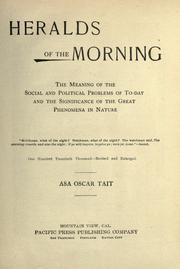 Heralds of the morning by Tait, Asa Oscar