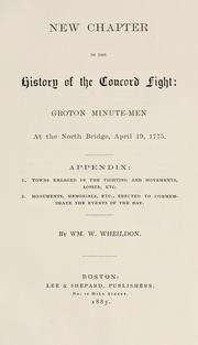 New chapter in the history of the Concord fight by William W. Wheildon