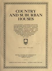 Cover of: Country and suburban houses by William Dewsnap