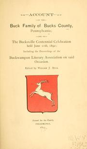 Account of the Buck family of Bucks County, Pennsylvania PDF