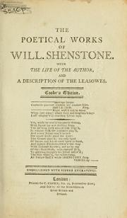 Poetical works by William Shenstone