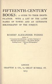 Fifteenth-century books by Peddie, Robert Alexander