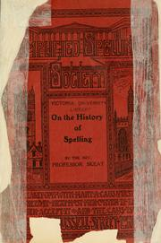 Cover of: On the history of spelling by Walter W. Skeat