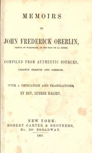 Memoirs of John Frederick Oberlin, pastor of Waldbach, in the Ban de La Roche PDF