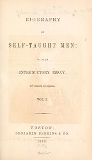 Biography of self-taught men by B. B. Edwards