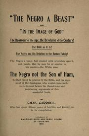 """The negro a beast"" by Carroll, Charles"