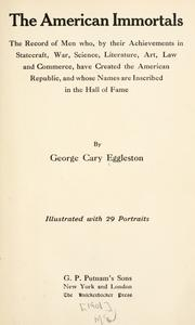 The American immortals by George Cary Eggleston