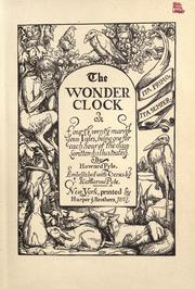 Cover of: The wonder clock, or, Four &amp; twenty marvelous tales by Howard Pyle