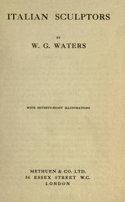 Italian sculptors by Waters, W. G.
