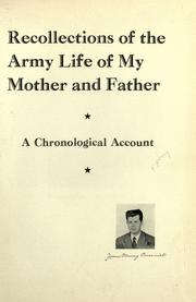 Recollections of the army life of my mother and father PDF
