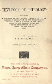 Text-book of petrology by F. H. Hatch