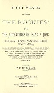 Four years in the Rockies by James B. Marsh