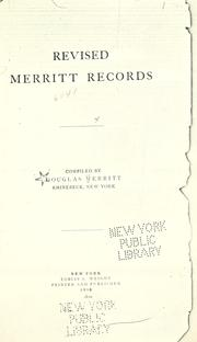 Revised Merritt records by Douglas Merritt