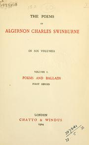 Poems by Swinburne, Algernon Charles