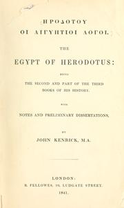 Cover of: The Egypt of Herodotus by Herodotus