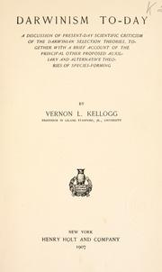 Darwinism to-day by Vernon L. Kellogg