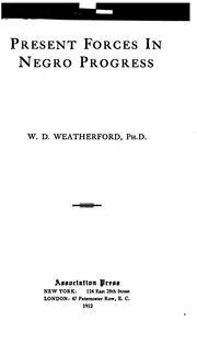 Present forces in Negro progress PDF