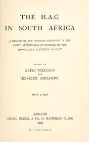 The H.A.C. in South Africa by Williams, Basil