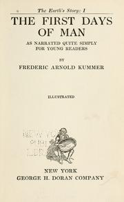 The first days of man by Frederic Arnold Kummer