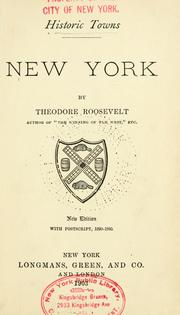 New York by Theodore Roosevelt