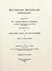 Cover of: Batchelder by Frederick Clifton Pierce