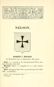 Descent of John Nelson and of his children by Temple Prime