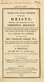 A short and easy method with the deists by Charles Leslie