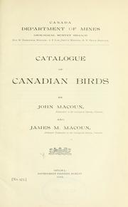 Catalogue of Canadian birds by John Macoun