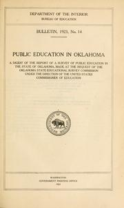 Cover of: Public education in Oklahoma by